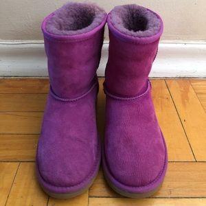 Magenta Rose Suede UGG Boots